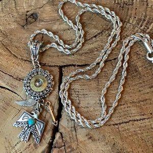 Necklace; ammunition casing